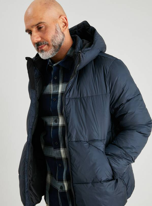 Navy Eco Thermolite Padded Shower Resistant Jacket - S