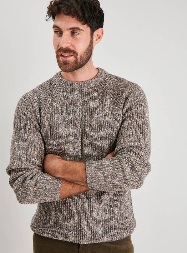 Stone Twist Knit Jumper - L