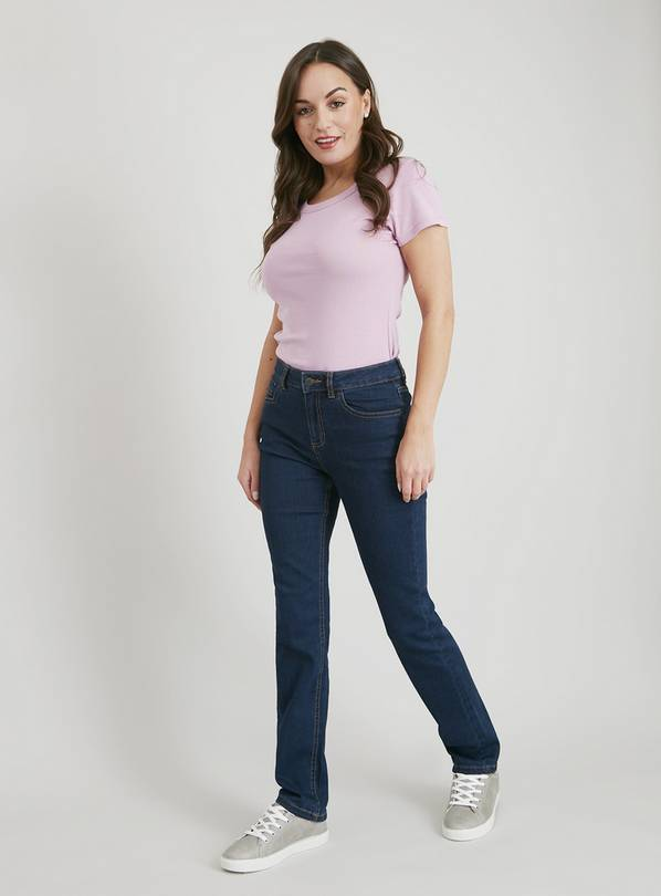 Dark Denim Straight Leg Jeans - 14S