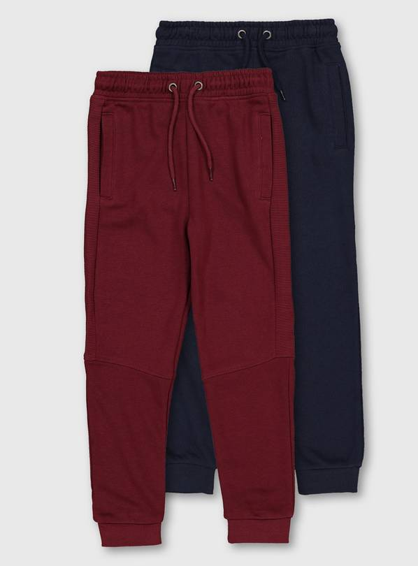 Navy & Burgundy Joggers 2 Pack - 4 years