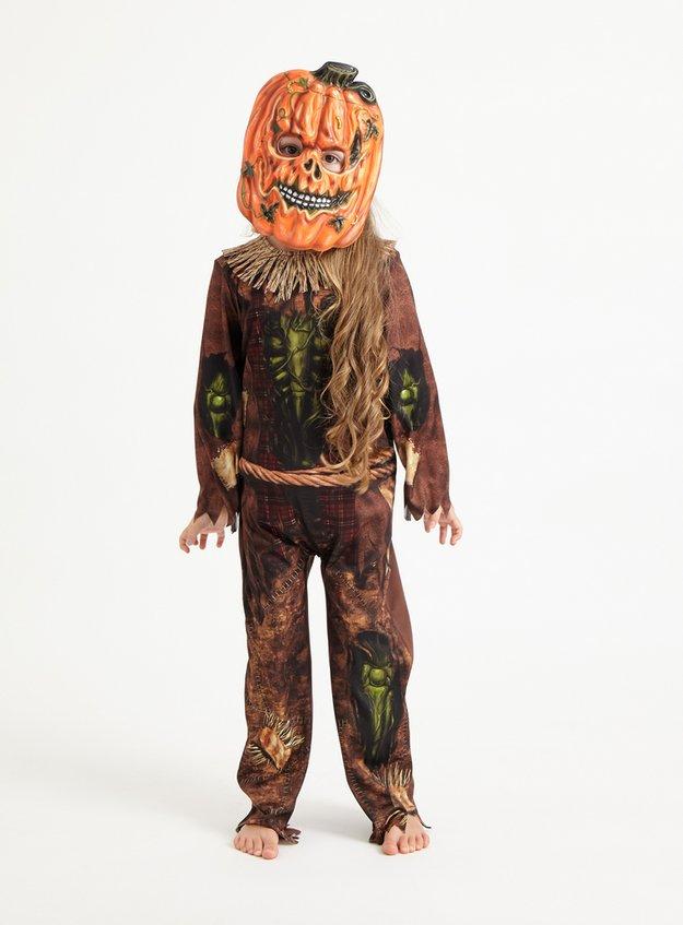 Halloween Pumpkin Reaper Costume (3-12 Years)