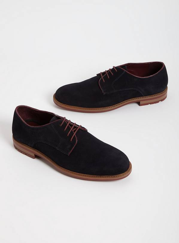 Sole Comfort Navy Suede Derby Shoes - 7