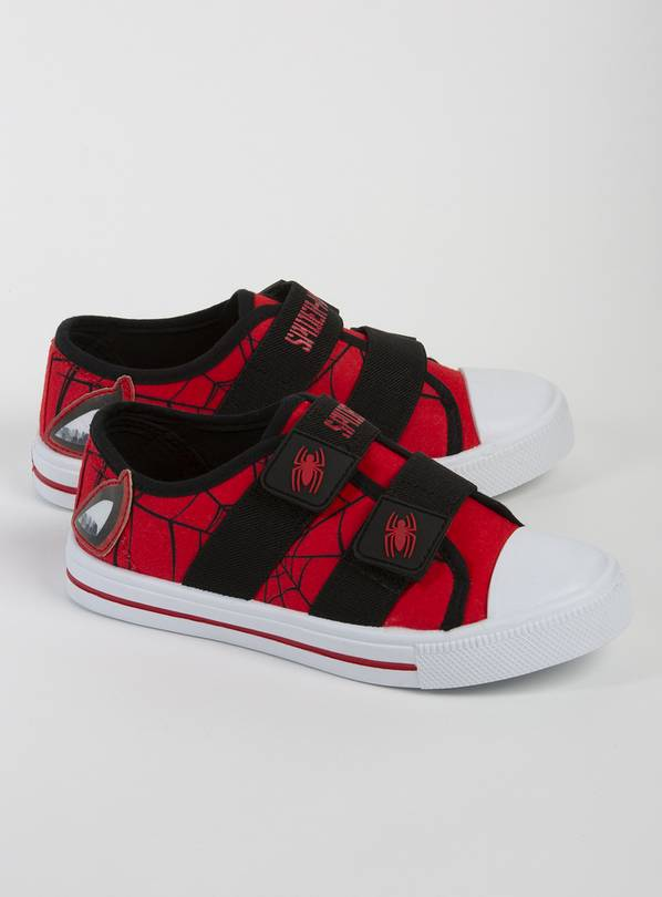 Marvel Spider-Man Red Canvas Trainers - 10 Infant