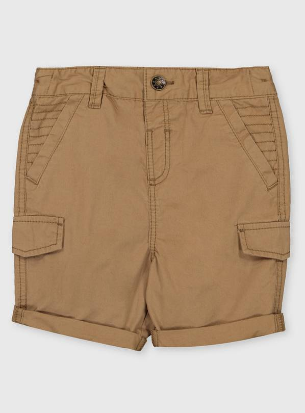 Stone Cotton Shorts - 1-1.5 years