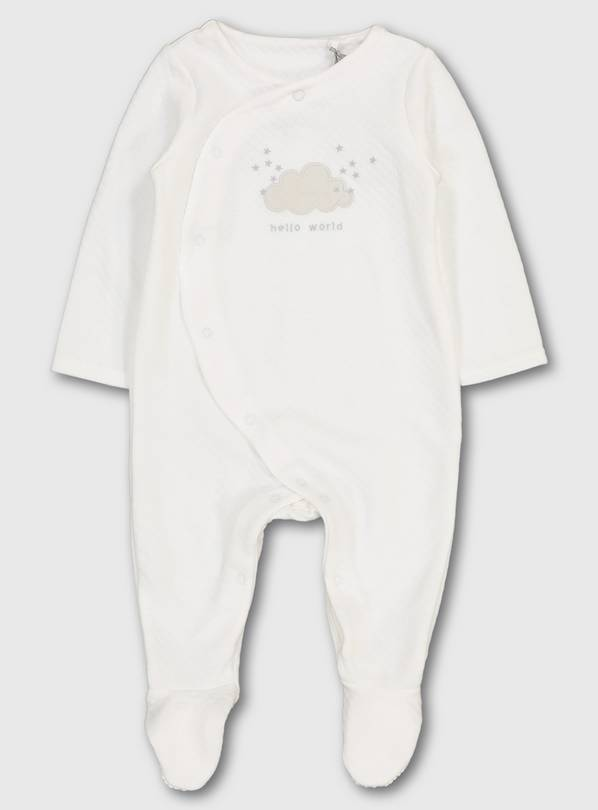 Quilted Organic Sleepsuit - Up to 3 mths
