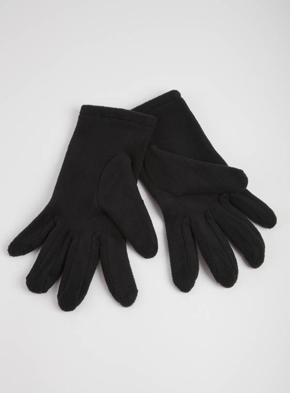 Black Fleece Gloves - One Size