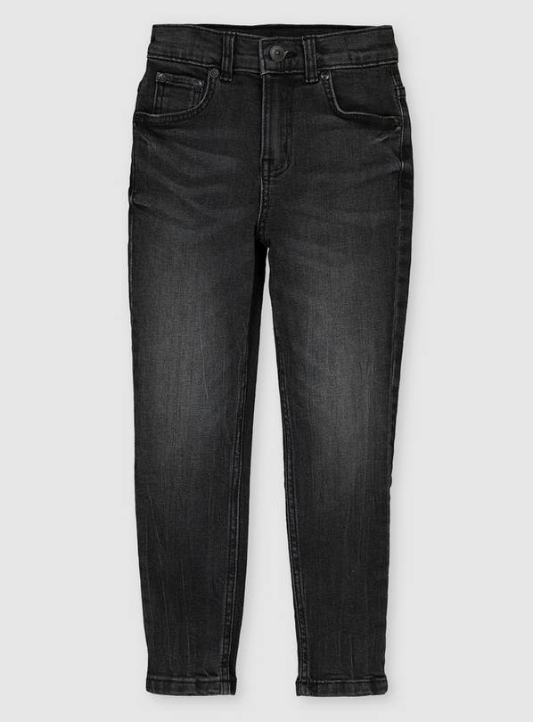 Black Washed Skinny Fit Jeans - 6 years
