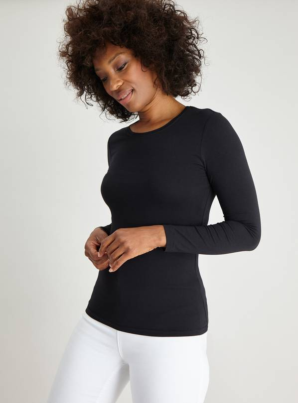 Black Luxe Long Sleeve Top - 14