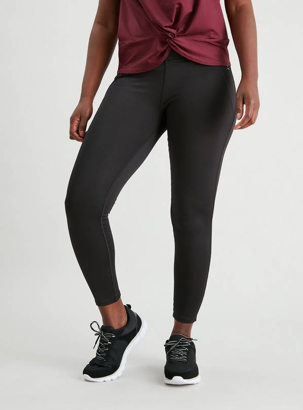 Active Black Moisture Wicking Sculpt Leggings - 12