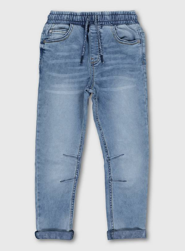Blue Midwash Denim Joggers - 13 years