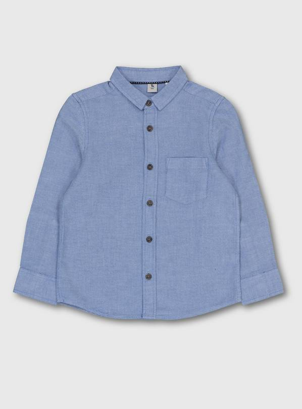 Blue Long Sleeve Oxford Shirt - 4 years