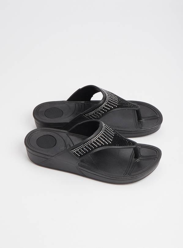 buy black diamant flip flops 5 6 shoes and boots argos. Black Bedroom Furniture Sets. Home Design Ideas