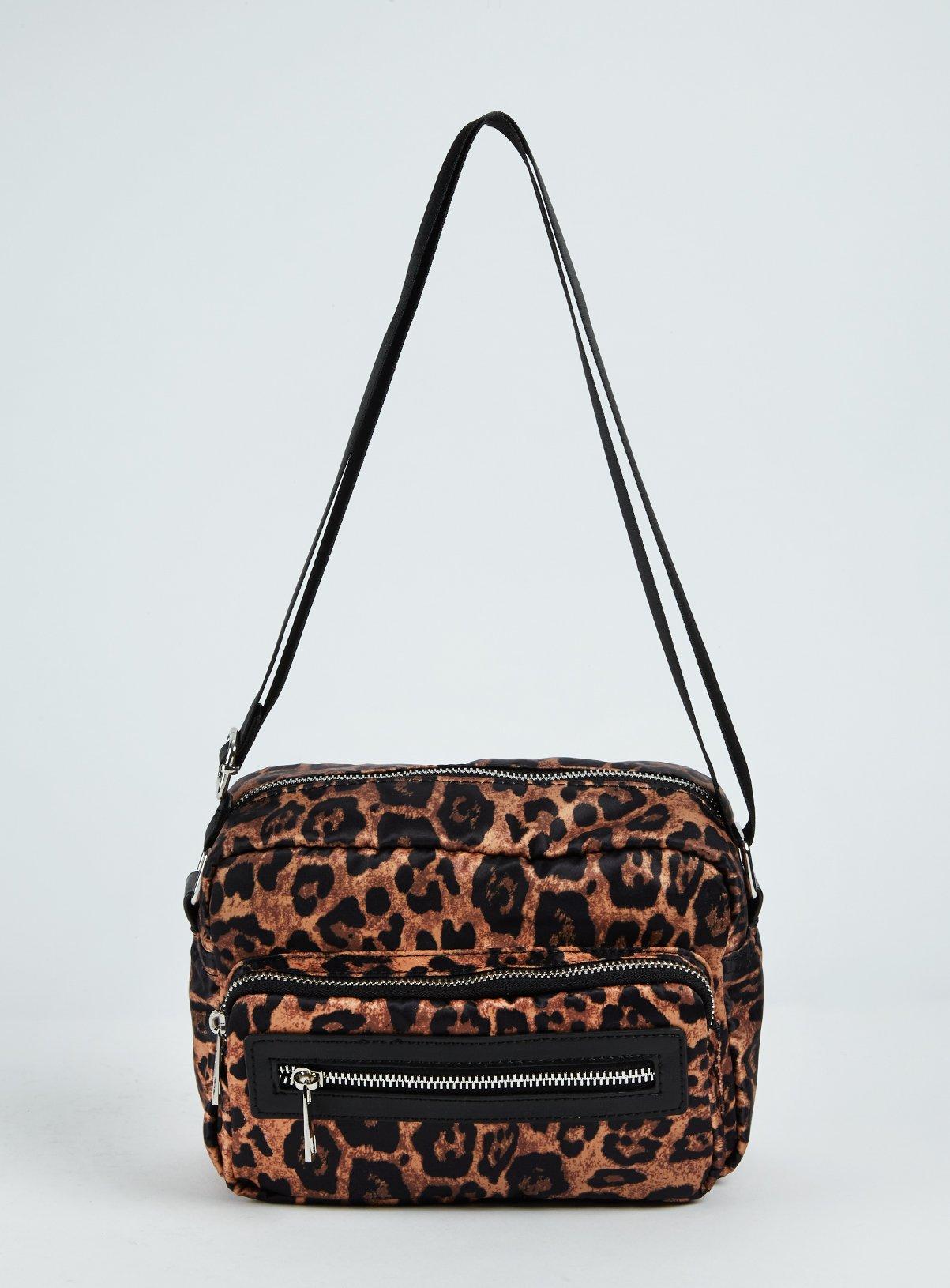 Leopard Print Camera Bag - One Size