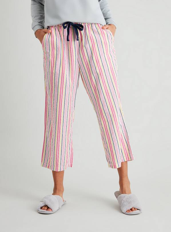 Pink Stripe Culotte Pyjama Bottoms - 22