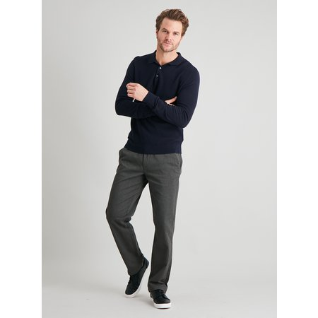 Brown Marl Belted Straight Leg Chinos - W38 L32