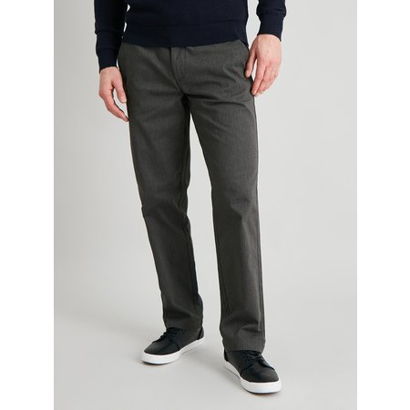 Brown Marl Belted Straight Leg Chinos - W40 L32