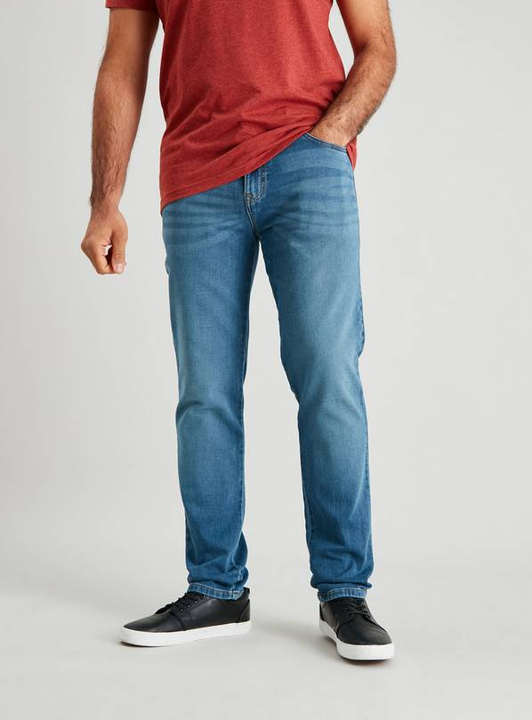 Light Wash Ultimate Comfort Slim Fit Jeans With Stretch - W3