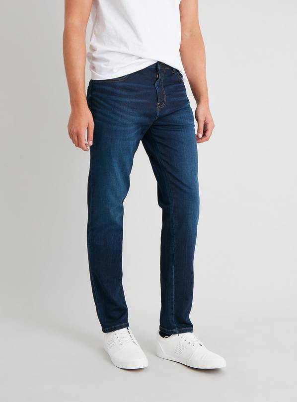 Mid Denim Ultimate Comfort Slim Fit Jeans With Stretch - W38