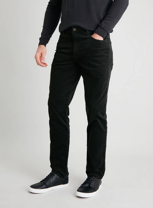 Forest Green Slim Fit Corduroy Trousers - W36 L32