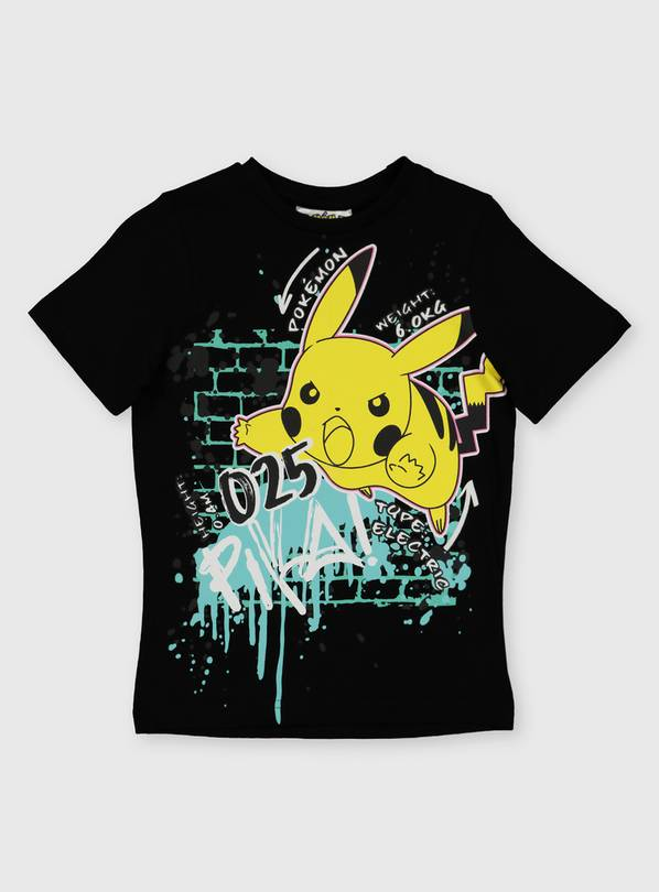 Pokémon Black Pikachu T-Shirt - 14 years