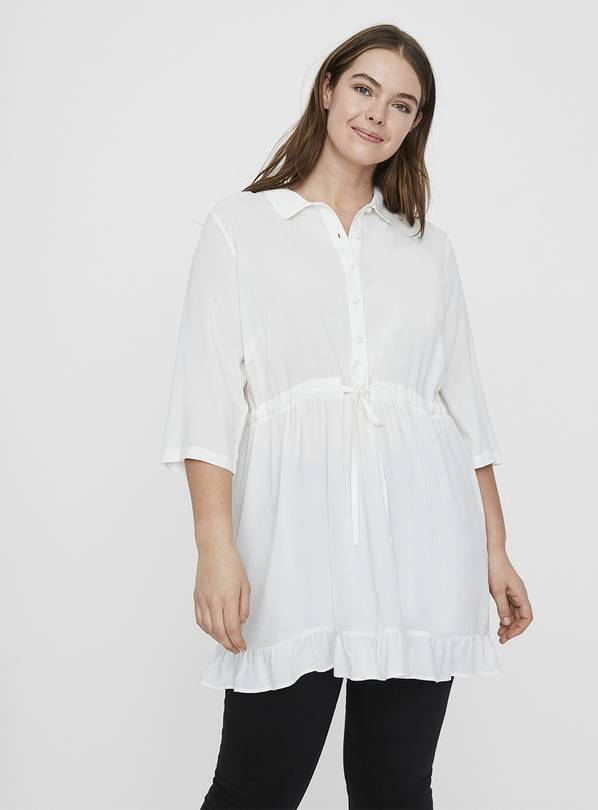 White 3/4 Sleeve Tunic - 28