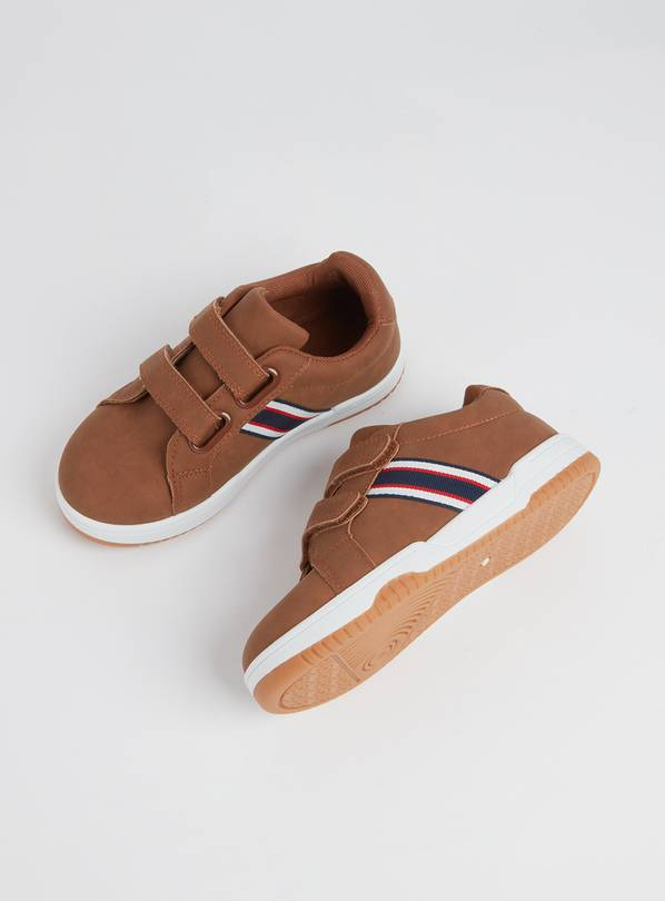 Tan Twin Strap Shoes - 8 Infant
