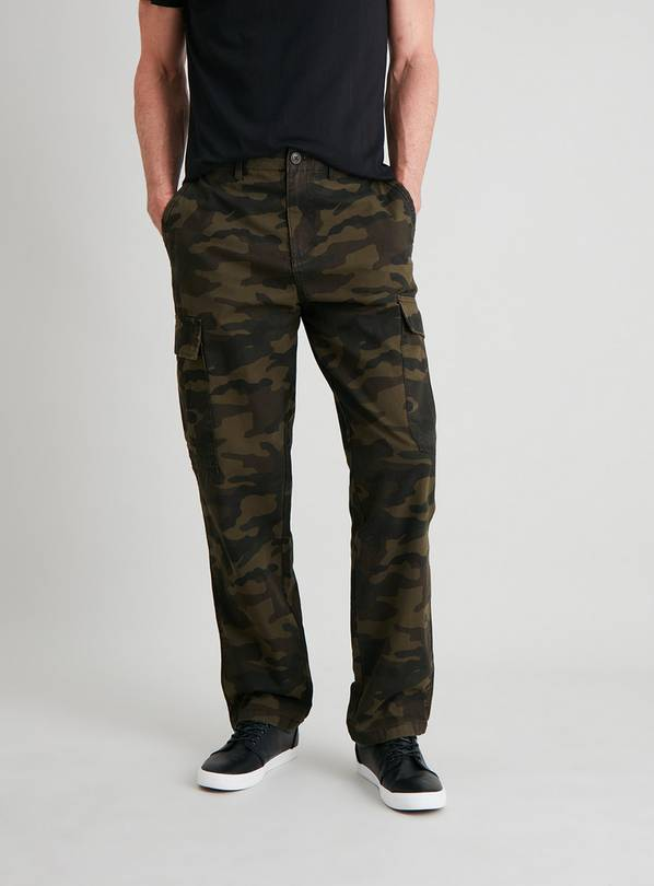 Camouflage Print Utility Cargo Trousers - W40 L32
