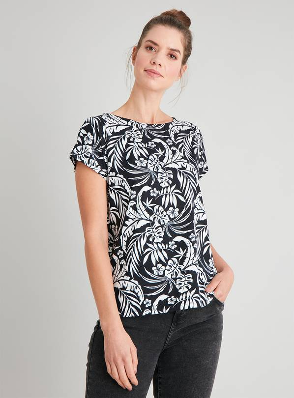 Tropical Print Bar Back T-Shirt - 16