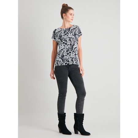 Tropical Print Bar Back T-Shirt - 14