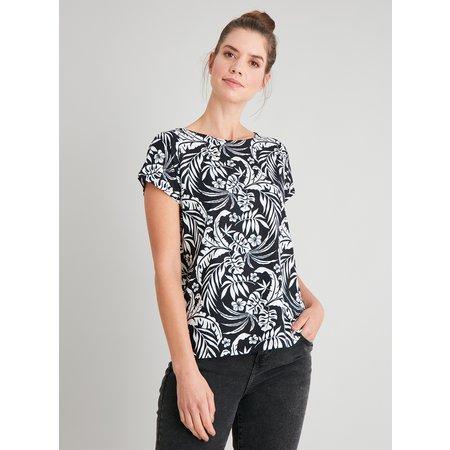 Tropical Print Bar Back T-Shirt - 16