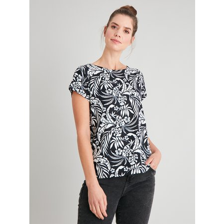 Tropical Print Bar Back T-Shirt - 26
