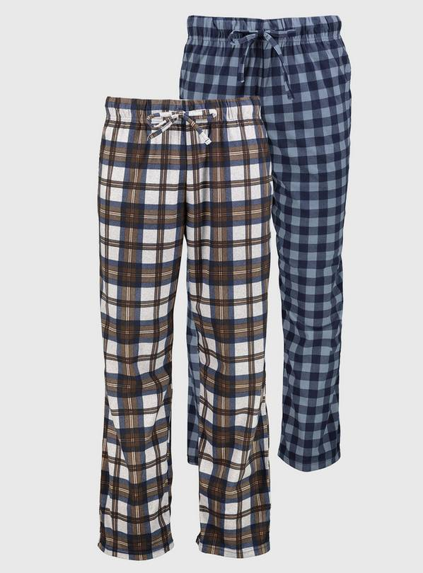 Check Loungewear Trousers 2 Pack - XL