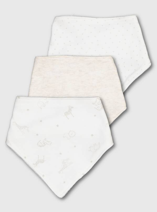 Safari Print Hanky Bibs 3 Pack - One Size