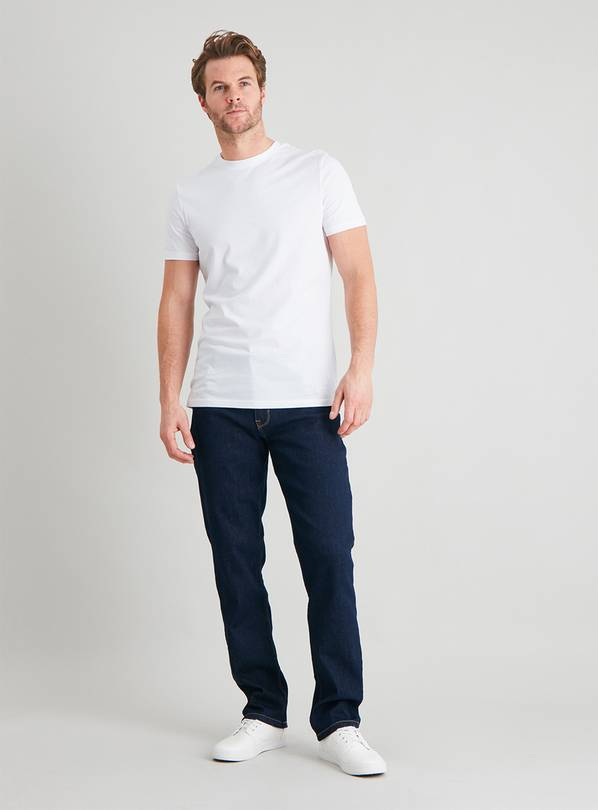 Blue Denim Ultimate Stretch COOLMAX Slim Leg Jeans - W44 L32