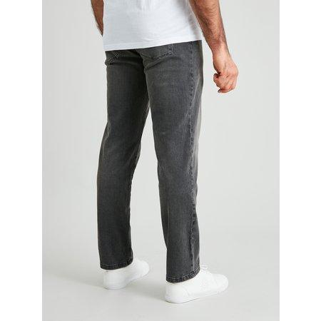 Grey Straight Leg Jeans With 4 Way Stretch - W36 L32