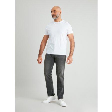 Grey Straight Leg Jeans With 4 Way Stretch - W36 L34