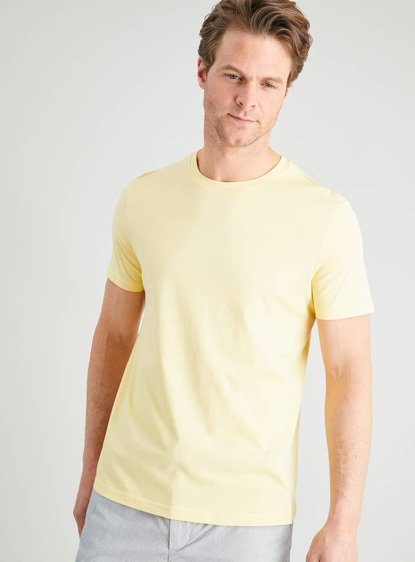 Yellow Crew Neck T-Shirt - M