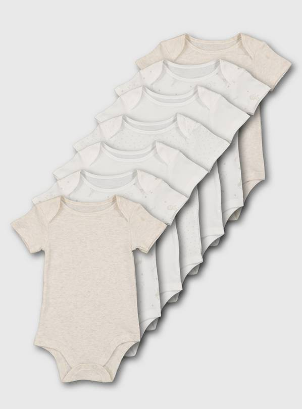 Safari Short Sleeve Bodysuit 7 Pack - Newborn