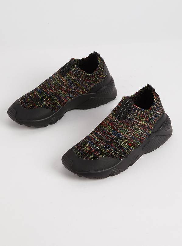 Black Speckled Sock Trainers - 1