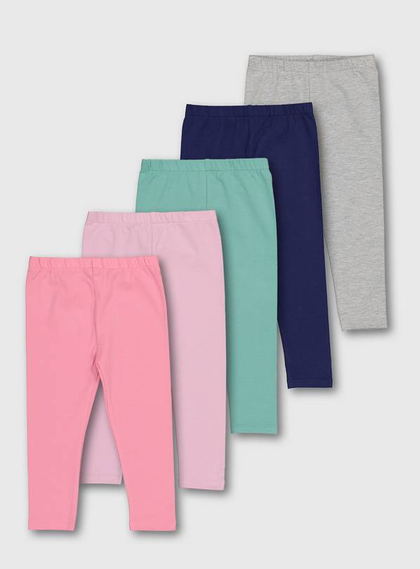 Pastel Leggings 5 Pack - 5-6 years