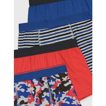 Blue Camouflage Trunks 5 Pack - 7-8 years