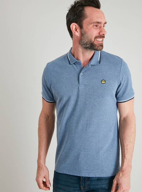 Pale Blue Polo Shirt - M