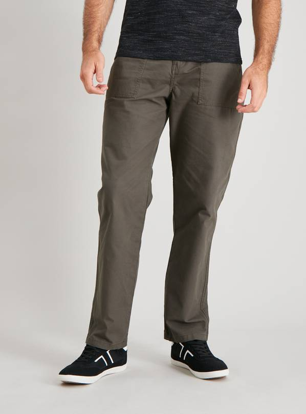 Khaki Straight Leg Field Trousers - W34 L34