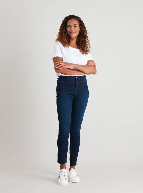 Blue Black Denim 4 Way Stretch Skinny Jeans - 10S