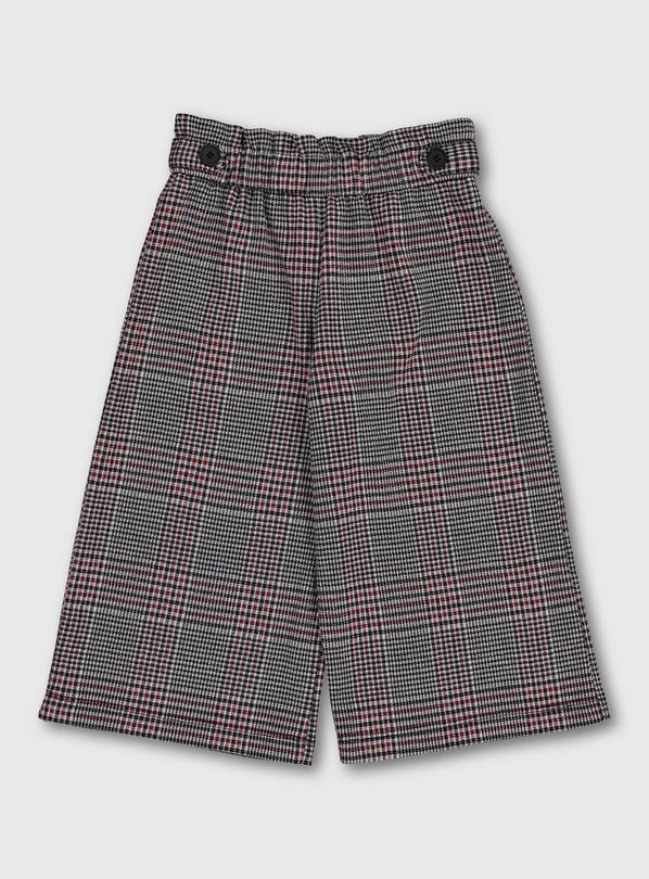Grey & Pink Check Culottes - 4 years
