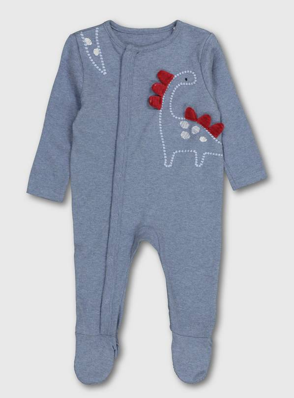 Blue Dinosaur Sleepsuit - Up to 3 mths