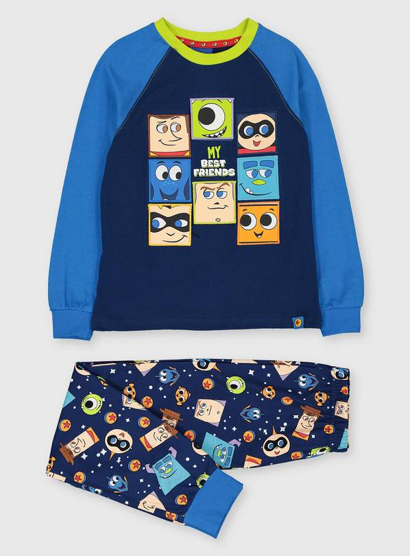 Disney Pixar Blue Character Pyjamas & Socks Set - 1-1.5 year
