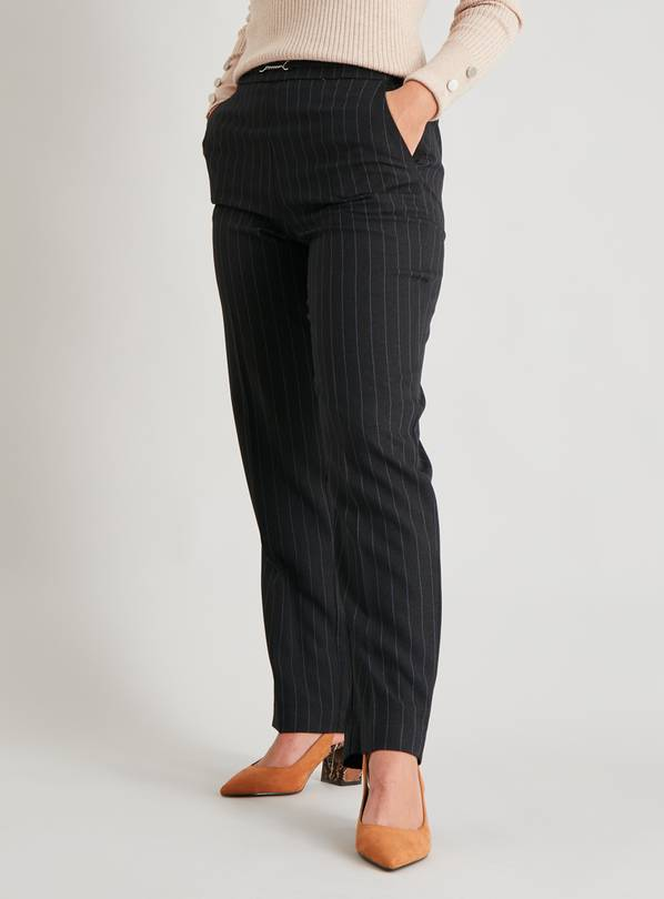 Pinstripe Classic Fit Trousers - 14R