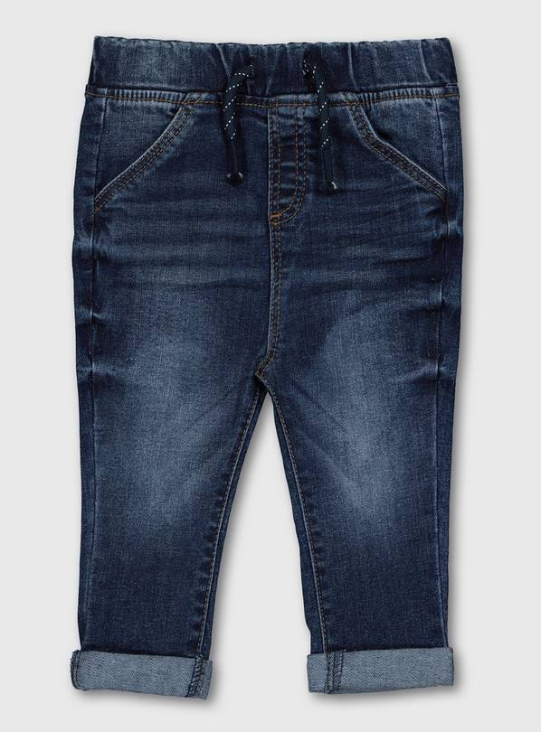 Dark Wash Skinny Jeans - Up to 3 mths