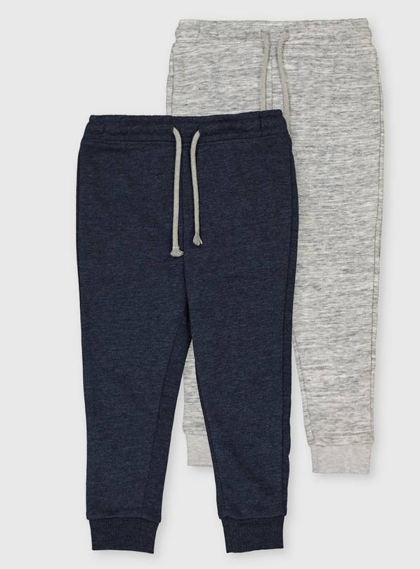 Blue & Grey Marl Joggers 2 Pack - 5-6 years